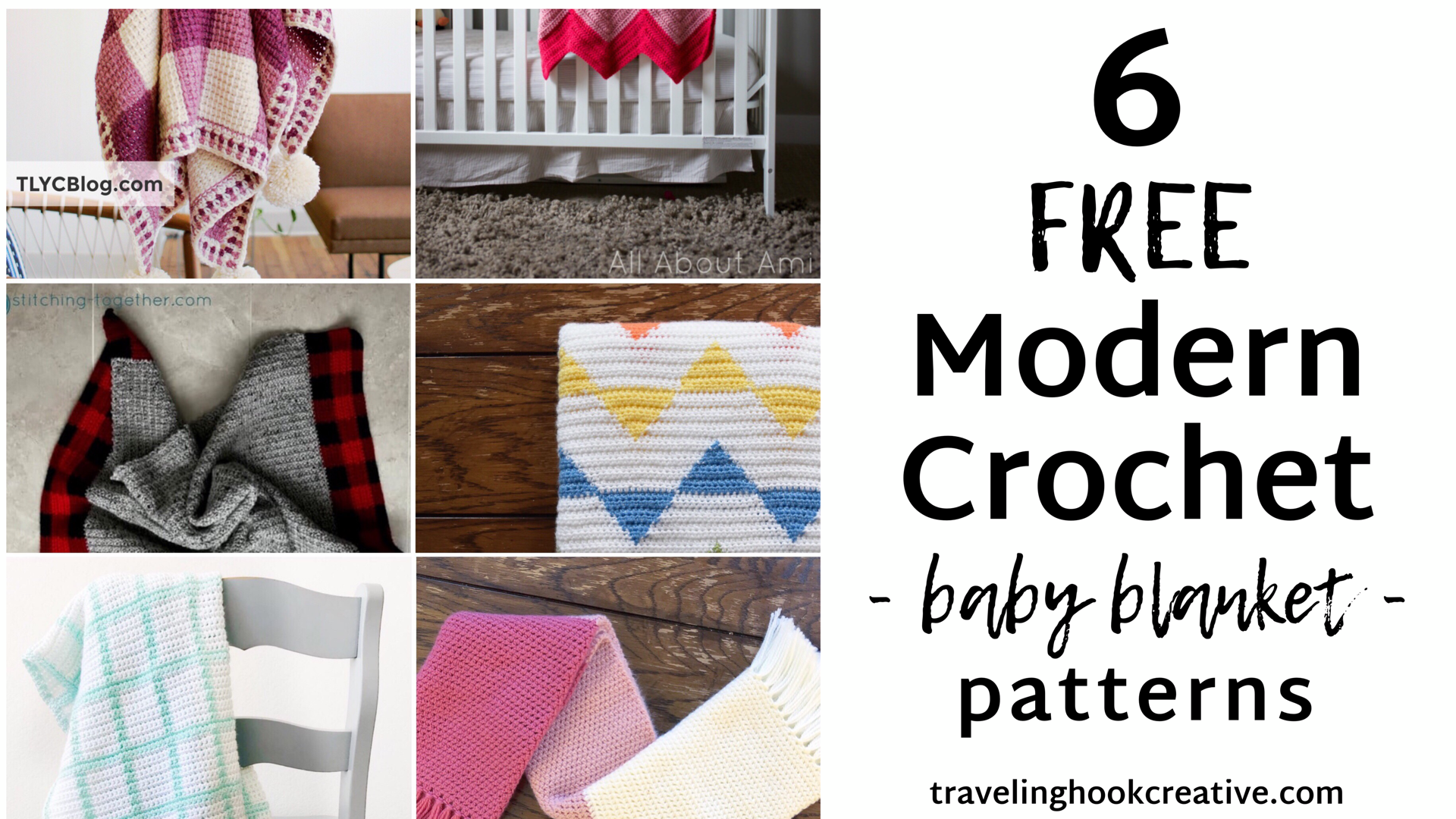 6 Free Modern Crochet Baby Blankets Traveling Hook Creative